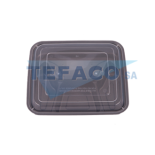 T46-rectangular-4compartment-pp-microwave-container-1000ml-dome-lid
